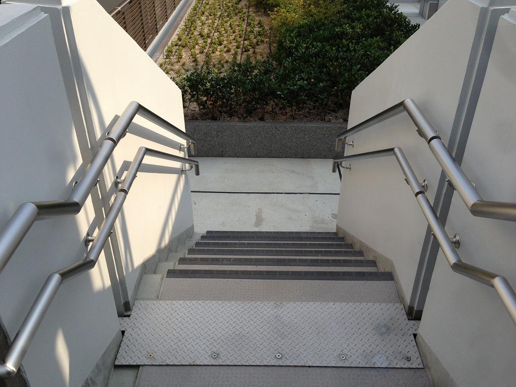 ステンレス階段手摺-1