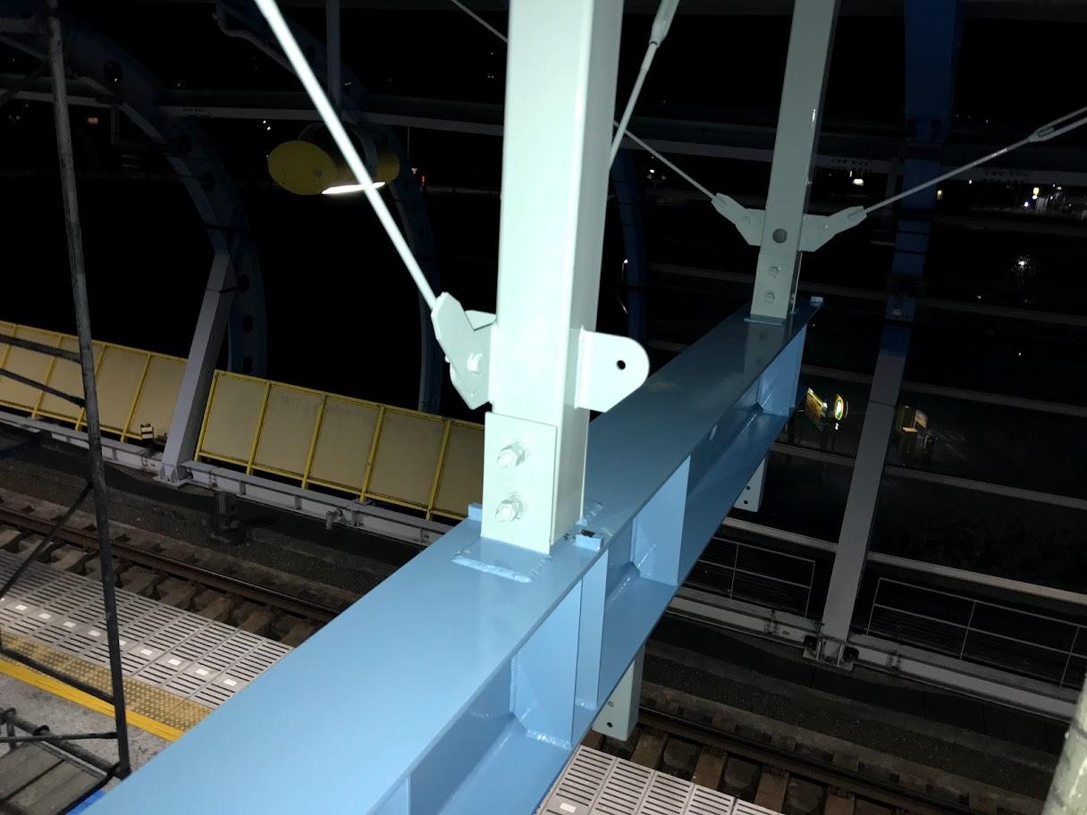吊下げ看板鉄骨工事-3