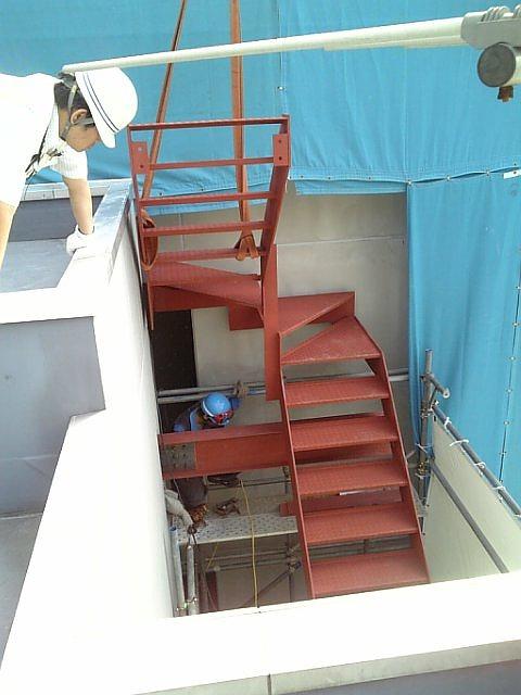 鉄骨階段 増設-3